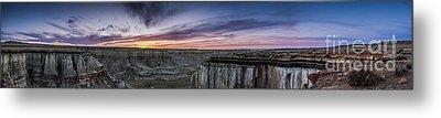 Coalmine Canyon Panoramic Sunset Metal Print by Darcy Michaelchuk