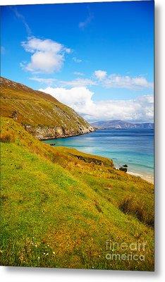 Coast At Keem Bay On Achill Island Metal Print by Gabriela Insuratelu