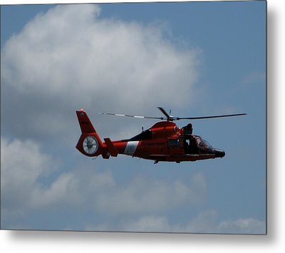 Coast Guard Rescue By Air Metal Print by Kathy Long