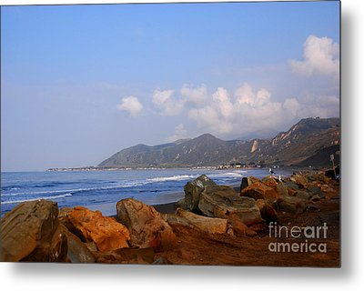 Coast Line California Metal Print by Susanne Van Hulst