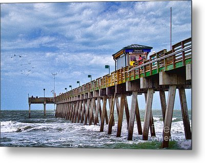 Metal Print featuring the photograph Coastal Waves by Gina Cormier