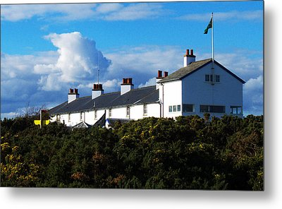 Coastguard Cottages Dunwich Heath Suffolk Metal Print by Darren Burroughs