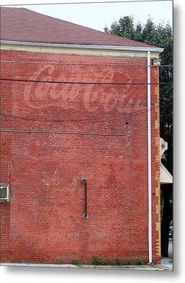Coca Cola Faded Metal Print by Denise Keegan Frawley