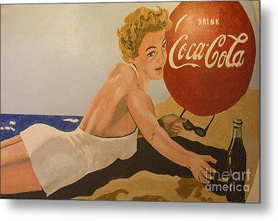 Coca Cola  Vintage Sign Metal Print by Bob Christopher