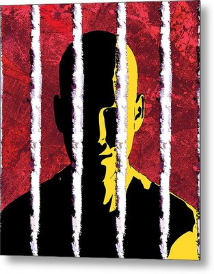 Cocaine Addiction, Conceptual Artwork Metal Print by Stephen Wood