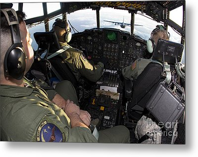 Cockpit Of A Mc-130p Combat Shadow Metal Print