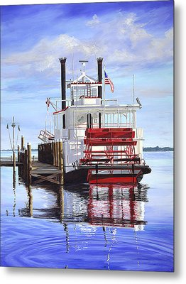 Cocoa Belle At Dock Metal Print by AnnaJo Vahle