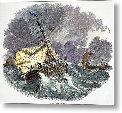 Cod Fishing In New England Metal Print by Granger