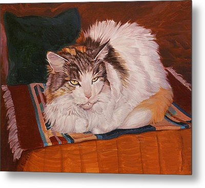Cody Is Just Chillin Metal Print by Shawn Shea