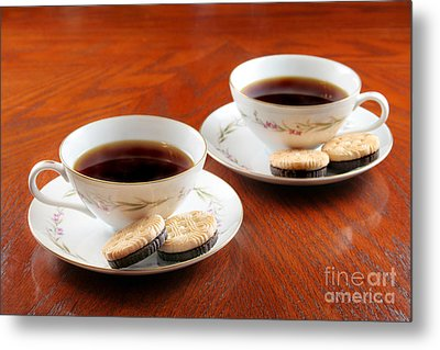 Coffee And Cookies Metal Print by Darren Fisher