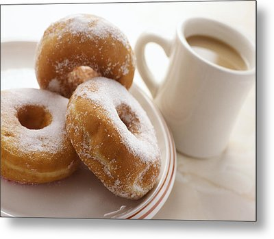 Coffee And Doughnuts Metal Print by Erika Craddock