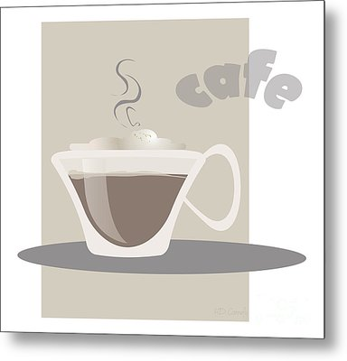 Coffee Metal Print by HD Connelly