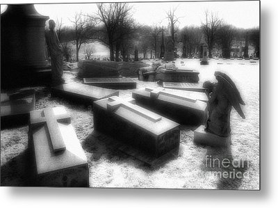 Coffins And Angel Metal Print by Jeff Holbrook