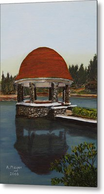 Cogshall Bandstand Metal Print by Alan Mager