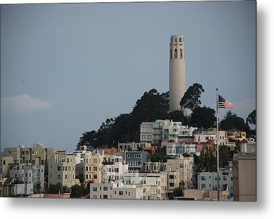 Metal Print featuring the photograph Coit Tower by Eric Tressler