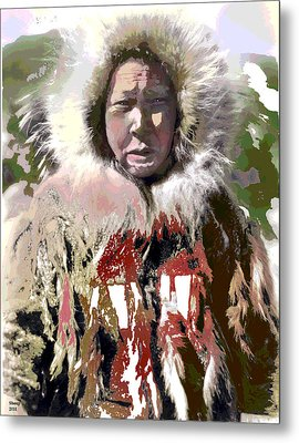 Metal Print featuring the mixed media Cold Man by Charles Shoup