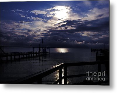 Metal Print featuring the photograph Cold Night On The Water by Clayton Bruster