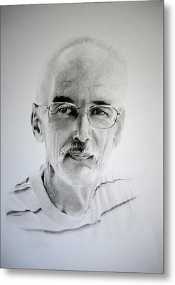 Metal Print featuring the drawing Colin by Lynn Hughes