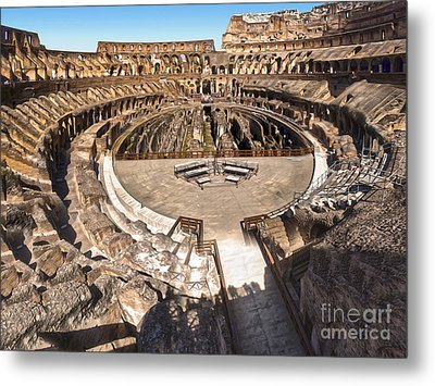 Coliseum Metal Print by Gregory Dyer