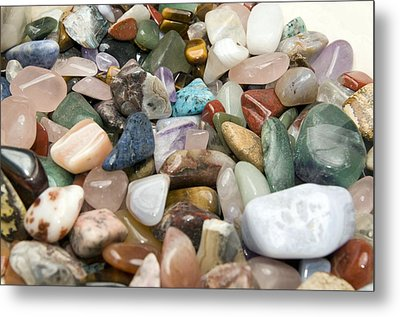 Collection Of Semiprecious Gemstones Metal Print