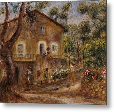 Collette's House At Cagne Metal Print by Pierre Auguste Renoir