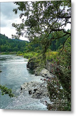 Colliding Rivers Metal Print