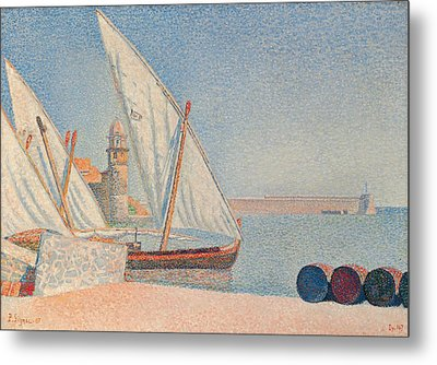 Collioure Les Balancelles Metal Print by Paul Signac