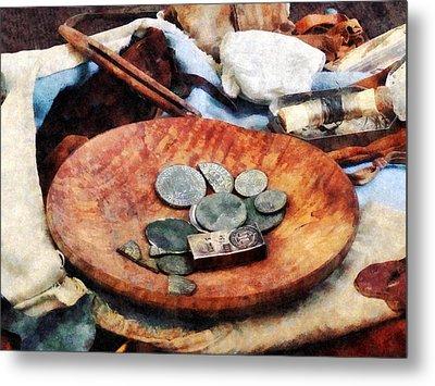 Colonial Coins Metal Print by Susan Savad