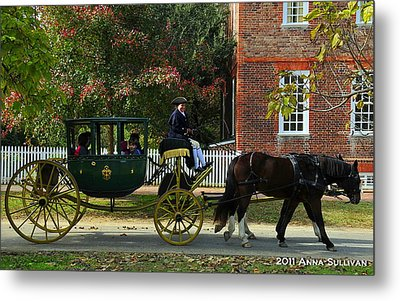 Colonial Williamsburg Carriage Metal Print by Anna Sullivan