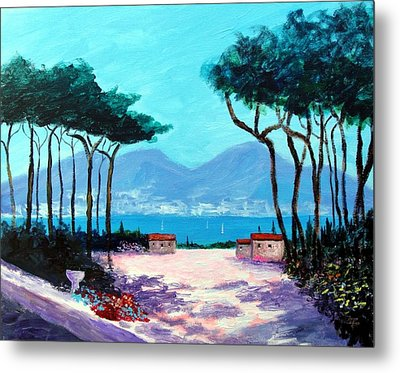 Color And Light Of The Mediterranean Metal Print by Larry Cirigliano