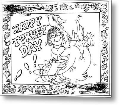 Color Me Card - Thanksgiving Metal Print