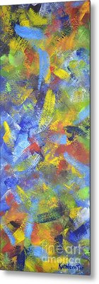 Metal Print featuring the painting Color Movement by Kathleen Pio
