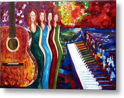 Color Of Music Metal Print by Yelena Rubin