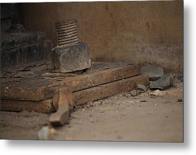 Metal Print featuring the photograph Color Of Steel 1 by Fran Riley