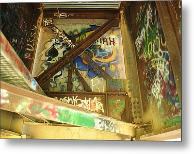 Metal Print featuring the photograph Color Of Steel 8 by Fran Riley