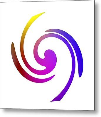 Color Spiral Metal Print by Steve K