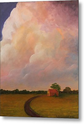 Color Storm Metal Print by Janet Greer Sammons