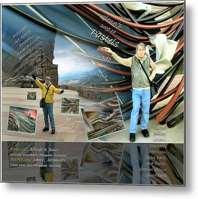Colorado-california Art Book Cover Metal Print by Glenn Bautista