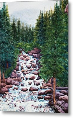 Colorado Falls Metal Print by Vikki Wicks