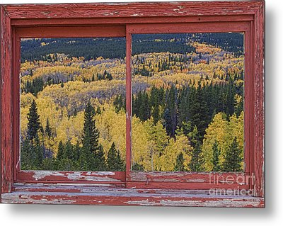 Colorado Red Rustic Picture Window Frame Photo Art Metal Print by James BO  Insogna