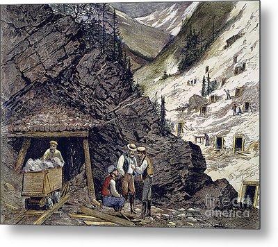 Colorado Silver Mines, 1874 Metal Print by Granger