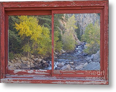 Colorado St Vrain Canyon Red Rustic Picture Window Frame Photos  Metal Print by James BO  Insogna