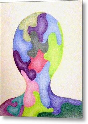Colored Man Metal Print by Linda Pope