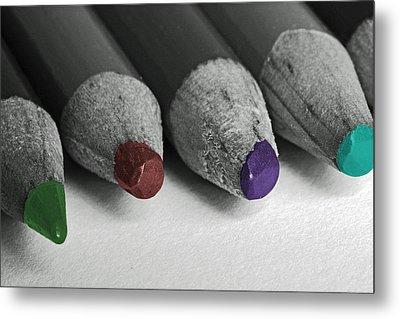 Colored Pencils Metal Print by Bill Owen