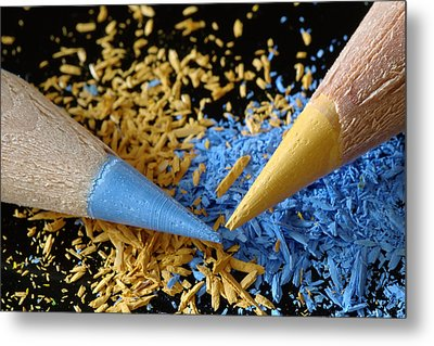 Colored Pencils Metal Print by Frank Tschakert