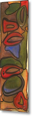 Colored Shapes Metal Print by Andrew J Andropolis