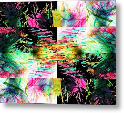 Colored Tubes Metal Print by Sumit Mehndiratta
