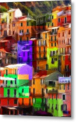 Colored Windows Metal Print by Steve K