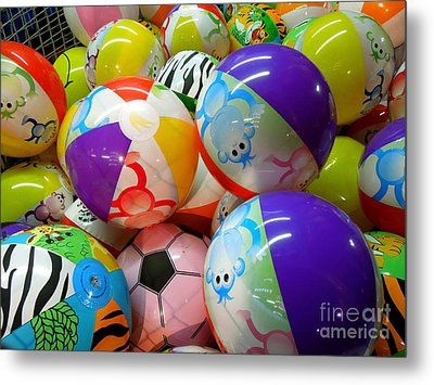 Metal Print featuring the photograph Colorful Balls by Renee Trenholm