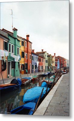 Colorful Burano Metal Print by C Sitton